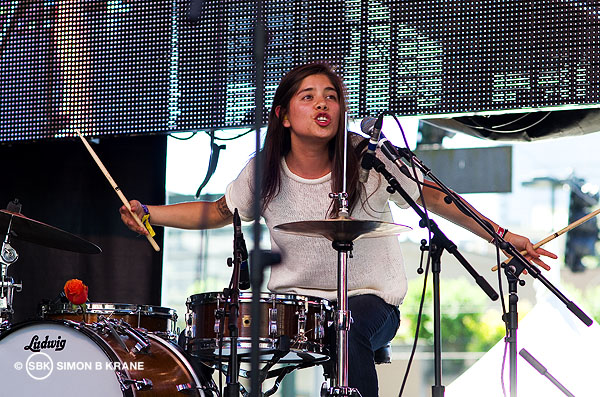 La Luz performs at the Capitol Hill Block Party. 27.07.2013