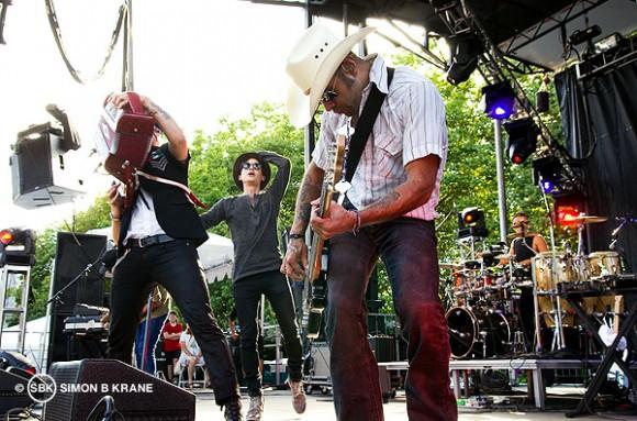 Kinky performs @ TuneIn Stage, Bumbershoot 2013. Seattle WA. 02.09.2013