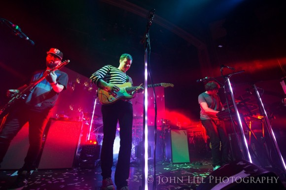 OK Go perform at the Neptune Theatre in Seattle. Photo by John Lill